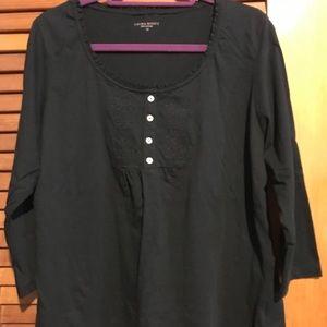 Laura Scott Black Shirt. NWOT